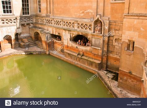bathroom kings kings bath roman baths bath england uk stock photo