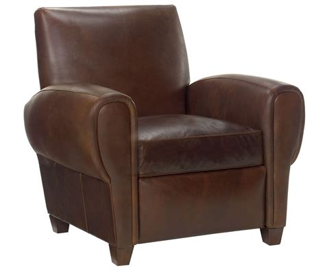 club chair recliner leather reclining club chair in leather club furniture