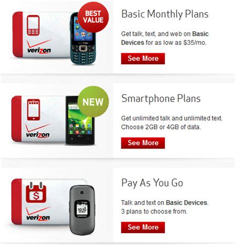 verizon cell phone plans best cell phone plans