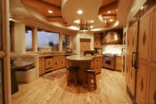 Log Home Kitchen Cabinets Pictures Of Kitchens Traditional Light Wood Kitchen