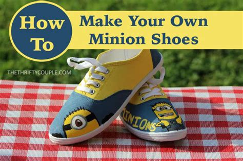 diy minion shoes easy diy minion canvas shoes knitting crochet d箟y