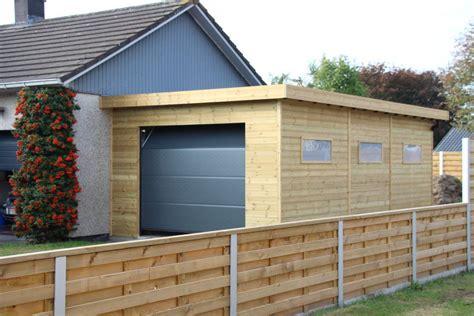 moderne garage veranclassic un garage sur mesure en bois de 1 232 re qualit 233