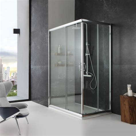 doccia 80x100 box doccia in cristallo 80x100 finitura trasparente