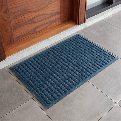 Crate And Barrel Doormats by Thirsty 22x34 Blue Doormat Crate And Barrel