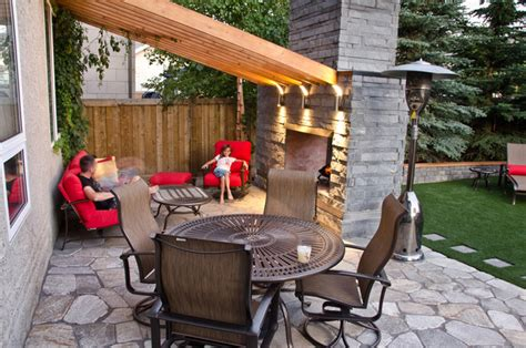 Patio Ideas Edmonton 70s Inspired Edmonton Back Yard Contemporary Patio