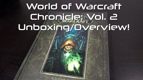 world of warcraft chronicle 1616558466 world of warcraft chronicle volume 2 unboxing overview youtube