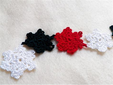 crochet pattern snowflake garland crochet snowflake diy christmas garland