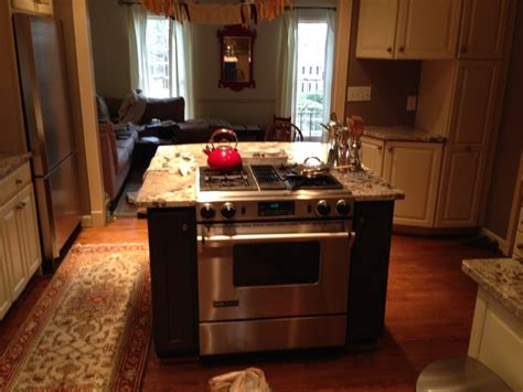 stove in kitchen island kitchen island with built in stove contemporary kitchen atlanta by atlanta curb appeal