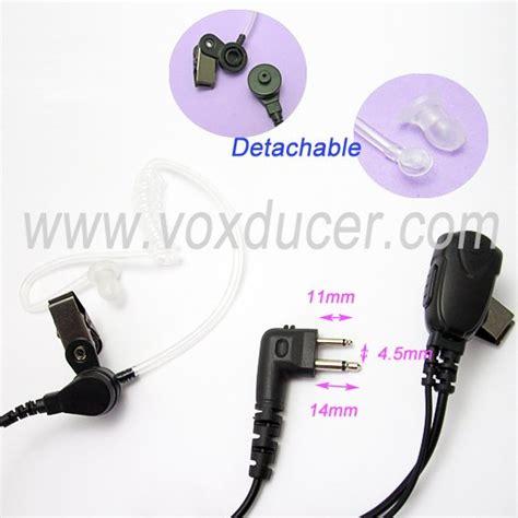 Earbud Earkube 20 walkie talkie accessory acoustic earphone microphone for motorola 2 pin uhf vhf gti gtx