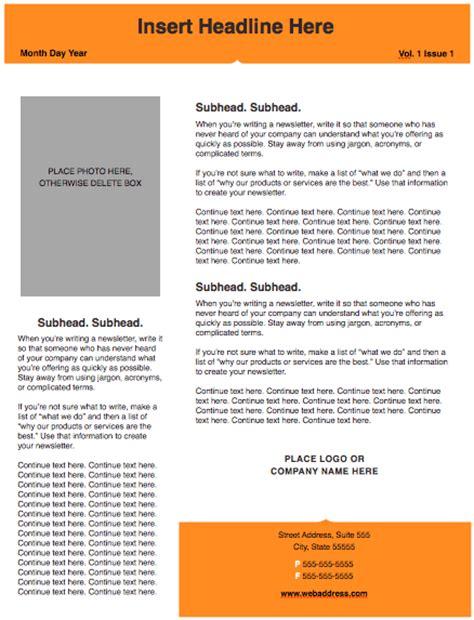 Modern Solid Newsletter Template Free Iwork Templates Contemporary Newsletter Template