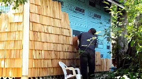 hand  cedar shingles siding   cabin