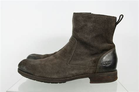 ugg work boots ugg austrailia brown ankle height side zipper work boots