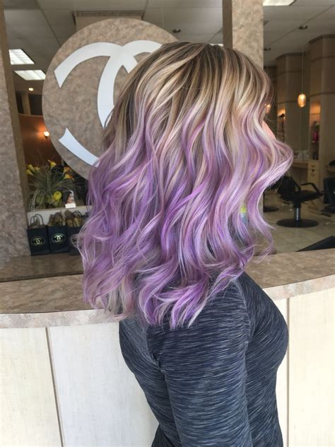 lilac higlights blonde hair titanium ash blonde pastel light purple lilac