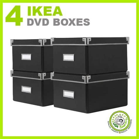dvd storage container 4 ikea storage dvd boxes black w lids container cases