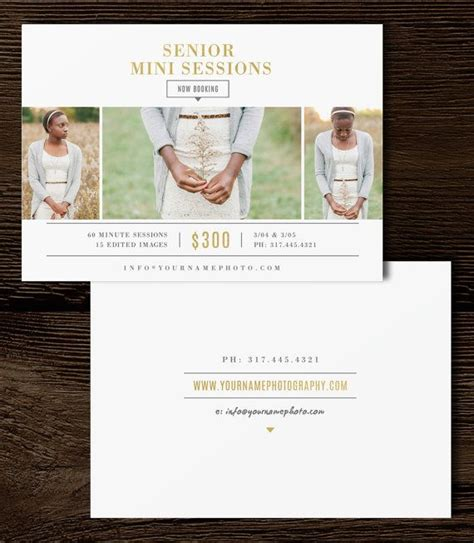senior rep cards templates for photographers photographer mini session template senior photo