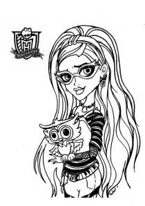 monster dolls ghoulia yelps free printable coloring pages