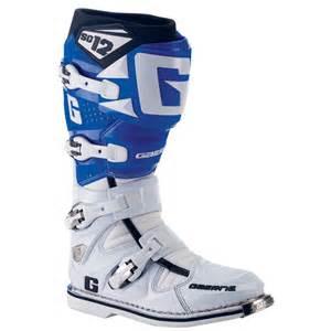 blue motocross boots gaerne sg12 motocross boots white blue ebay