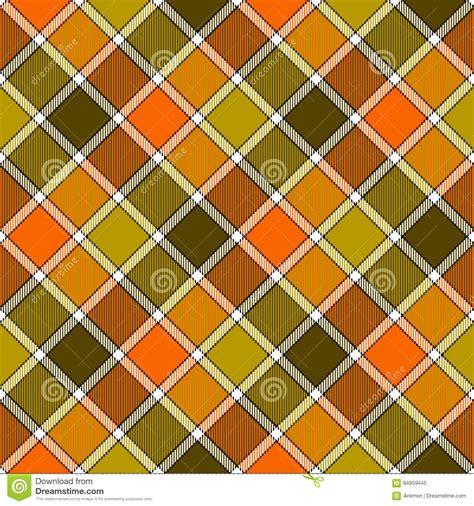 diagonal seamless pattern as tartan plaid vector image green orange diagonal check plaid seamless pattern stock