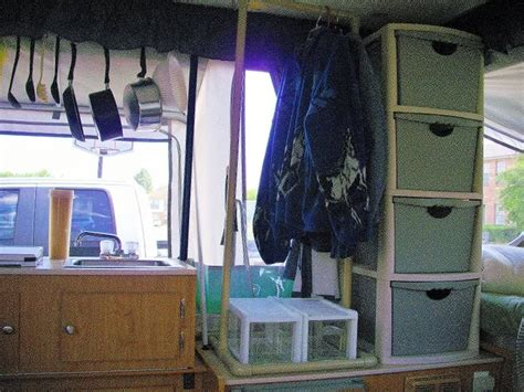 pop up cer interior storage ideas 78 best images about tent trailer on shelves