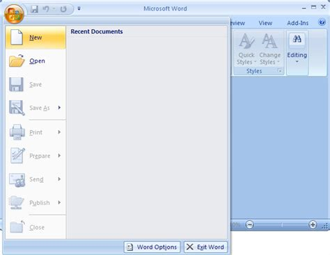 Ms Word 2007 Create A Template From A Blank Document Microsoft Office 2007 Word Templates