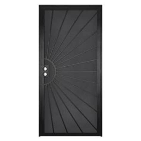 unique home designs 36 in x 80 in solana black surface