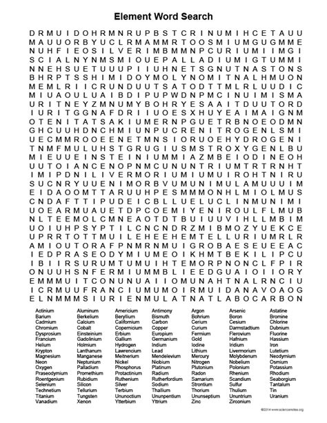 printable word search grade 4 element word search activity