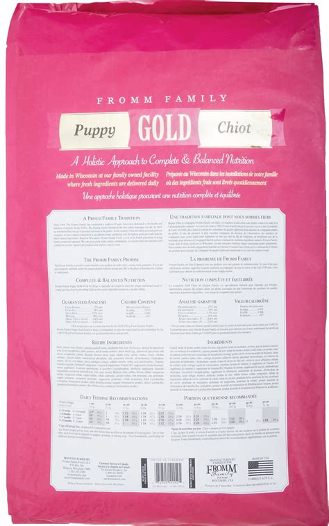 fromm food fromm gold holistic puppy food whitedogbone