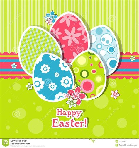 3d Easter Card Templates by Template Easter Greeting Card Stock Image Image 23332081