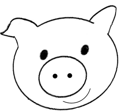 the pig ears template best photos of printable pig template pigs coloring page