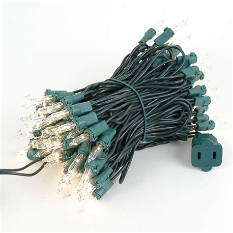 random twinkle mini lights on green wire 100 bulb