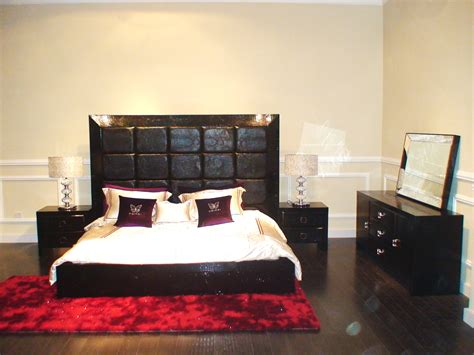 Armani Bed Set Glam Black Armani Xavira Collection Bed Model Aa216 180 Black Design Co