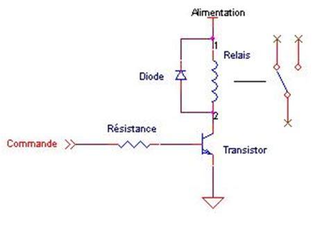test diode de roue libre schema d une commande de relais
