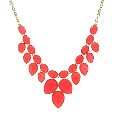 coral pedals statement necklace best of everything
