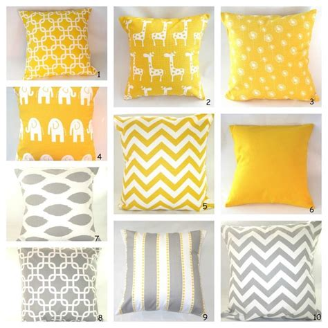 Grey And Yellow Decorative Pillows by Pillows Decorative Pillow Decorative Pillows Baby Bedding