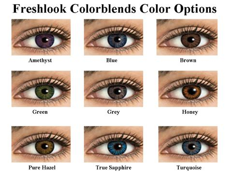 fresh colors freshlook colorblends in pure hazel review indian beauty
