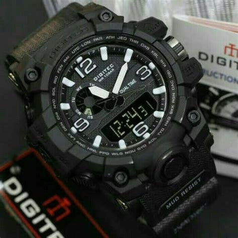 Digitec 3025 Rubber Original Water Resist Black Jam Tngan Pria jual jam tangan digitec dg 2093 original water resist
