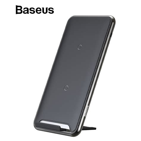 baseus 10w 3 coils wireless charger for iphone x xs max xr samsung s9 note9 xiaomi oppo