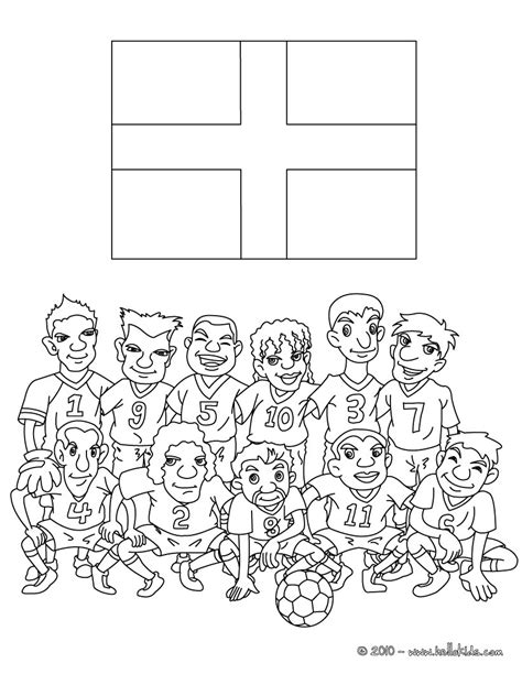 team of england coloring pages hellokids com