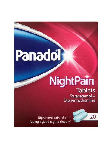 tattoo pain relief tablets panadol nightpain tablets 20 tablets first 4 meds
