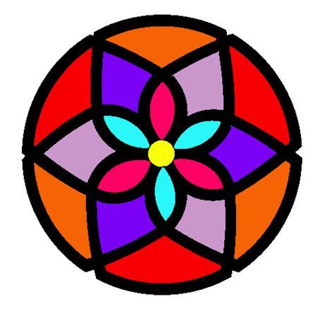 imagenes de mandalas faciles a color dibujo de mandala 44 pintado por flores en dibujos net el