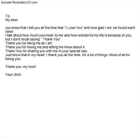 Support Letter To Boyfriend Letter To Your Boyfriend Sle Templates