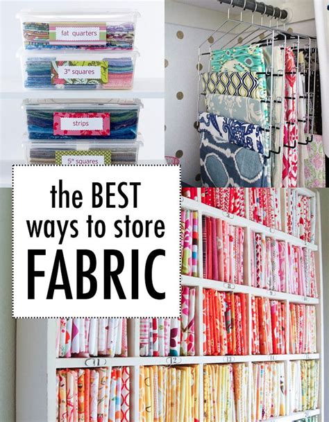 How To Store Quilt Fabric by The Best Way To Store Fabric Because Our