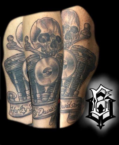 tattoo of us tre harley davidson by tre pleasant tattoonow