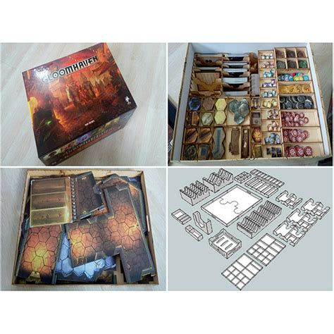 Tiny Epic Quest Box Organiser Insert gloomhaven token organizer team board
