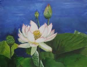 Paintings Of Lotus Flowers Lotus Flower Painting By Selig