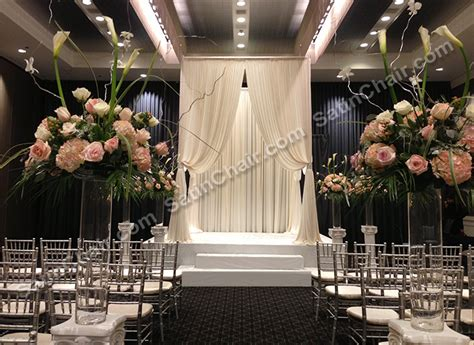 ceremony decor rent in chicago event decor by satin chair