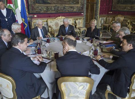 consiglio dei ministri riunione di oggi riunione consiglio supremo di difesa