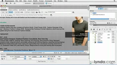tutorial photoshop dreamweaver website dreamweaver creating multiple pages from a template