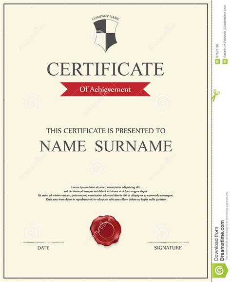 vector certificate template vector certificate template stock vector image 67623186