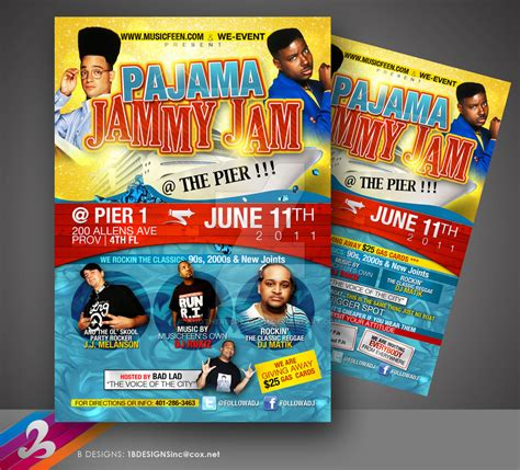 Pajama Jam Flyer By Anotherbcreation On Deviantart Pajama Flyer Template